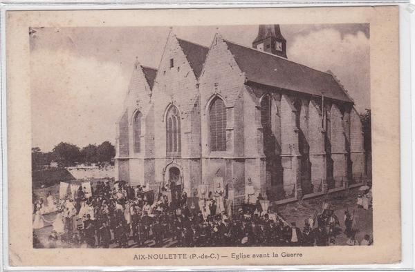 Aix-Noulette - Célébrations religieuse avant guerre sur le village de Aix - Noulette( pas de Calais )