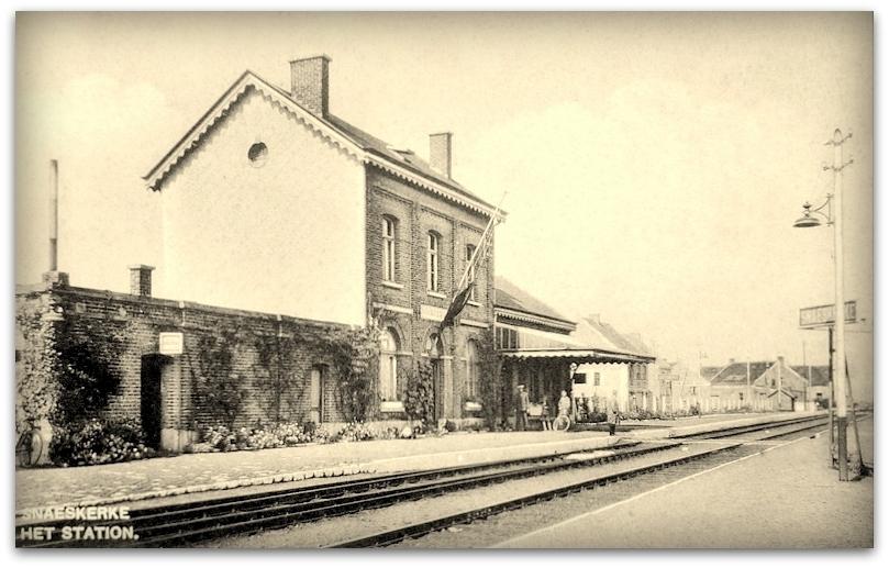 "Snaaskerke -  Snaaskerke "" Zicht op het Station """