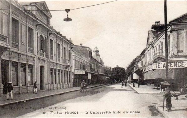 Hanoï - tonkin, hanoi, l'université indo chinoise