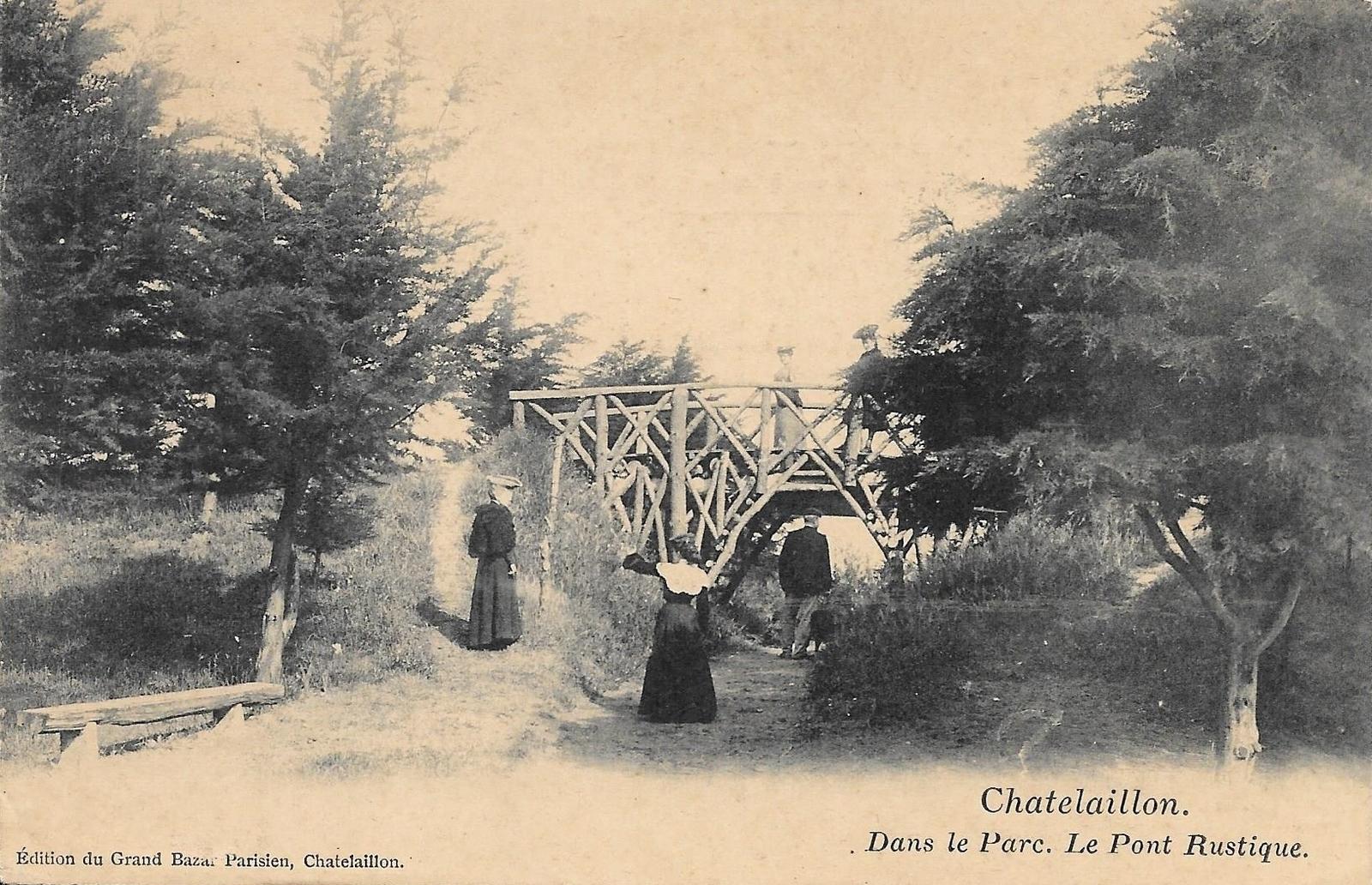 CPA CHATELAILLON Le Parc Pont rustique 17