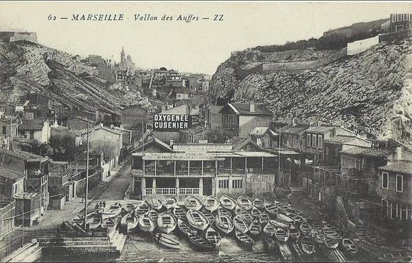 Marseille - D13 ¤ MARSEILLE - VALLON DES AUFFES (Corniche) Publicité OXYGÉNÉE _ CUSENIER ¤¤ Édit. Z.Z. n° 62 ¤¤
