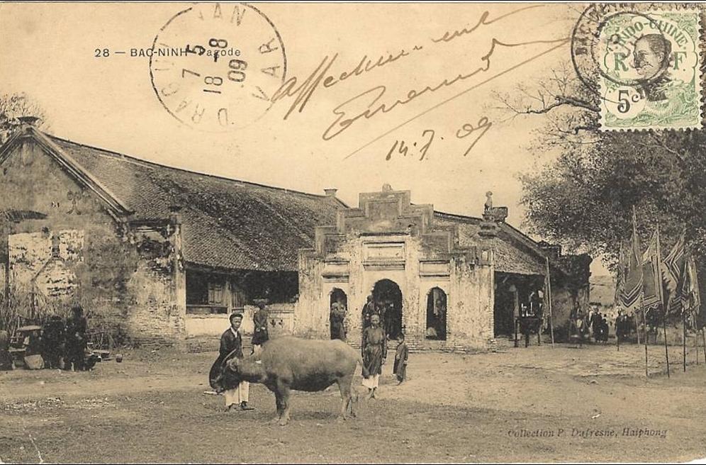 -  Viêt- Nam_  tonkin - Bac-Min _ la pagode et son cochon