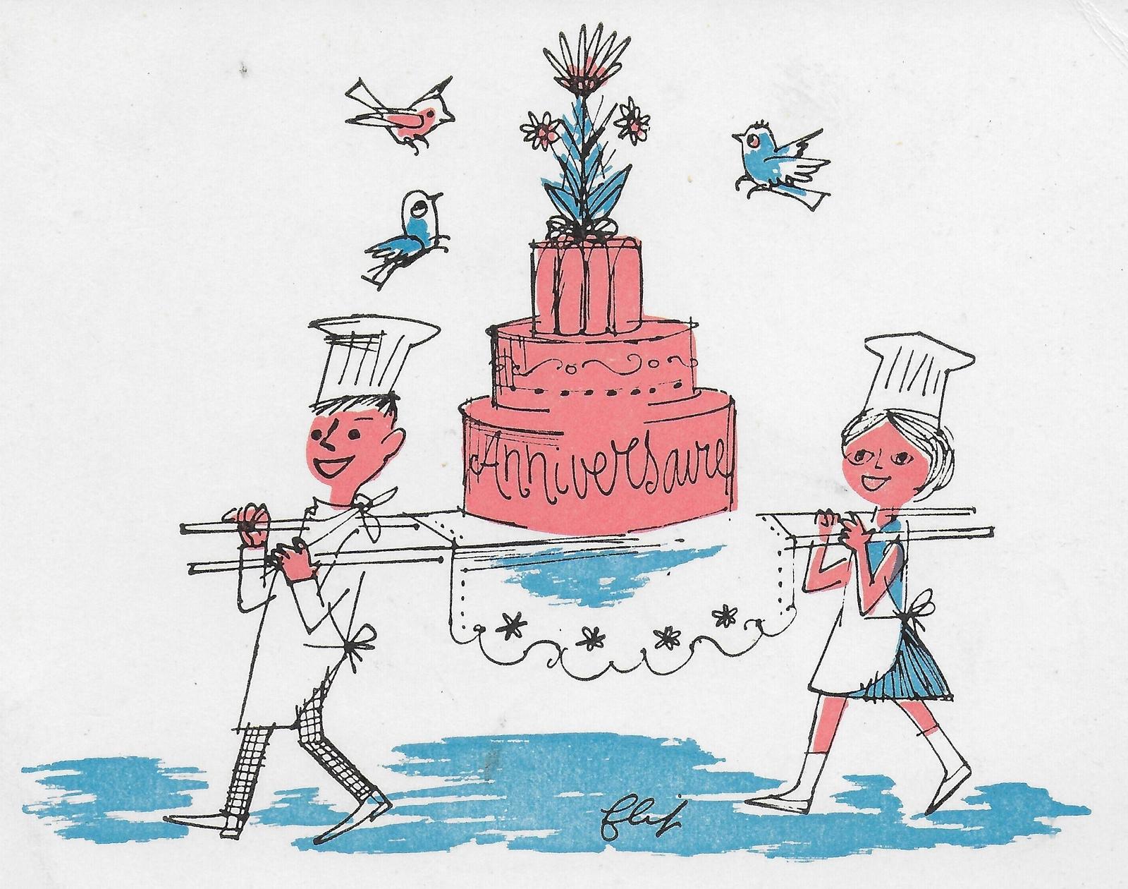 Anniversaire Couple De Patissiers Portant Gateau La Tribune Sos Villages D Enfants De France Carte Postale Ancienne Et Vue D Hier Et Aujourd Hui Geneanet