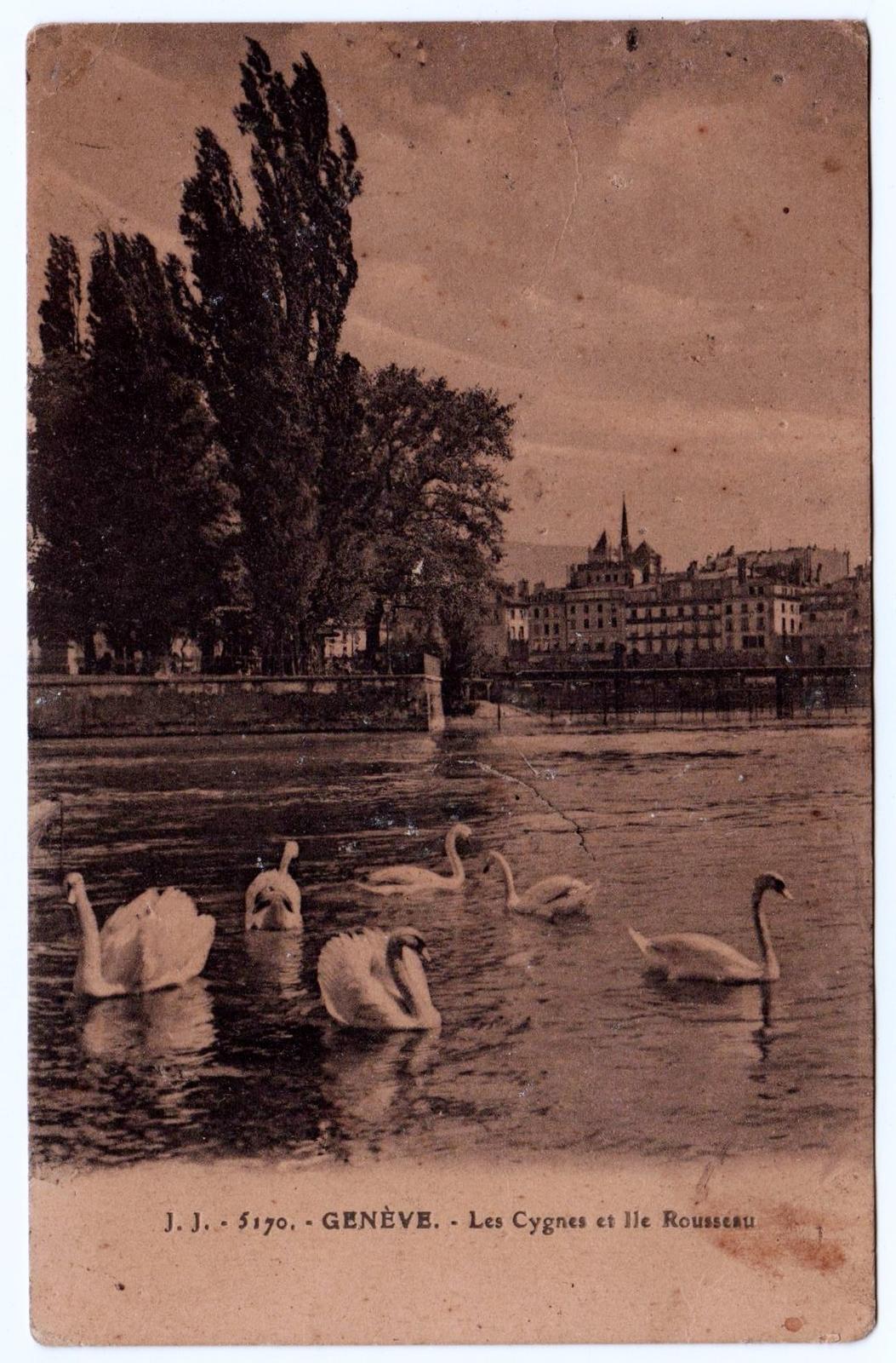 Genève - Genève, Les Cygnes et Ile Rousseau. Collection Particulière, Correspondance familiale.