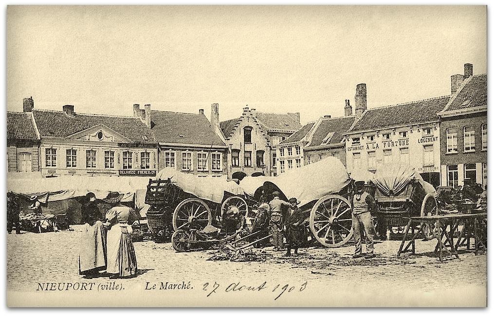 "Nieuwpoort - Nieuwpoort "" Le Marché Anno 1903 """