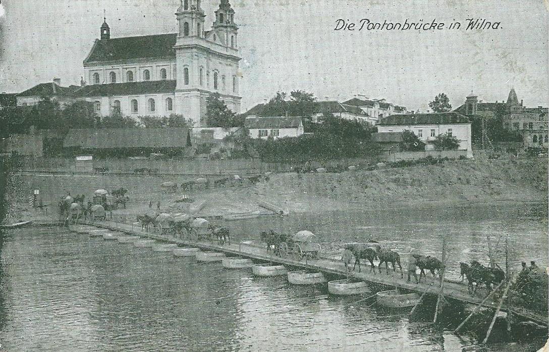 Vilnius -  Die Pontonbrücke in Wilna