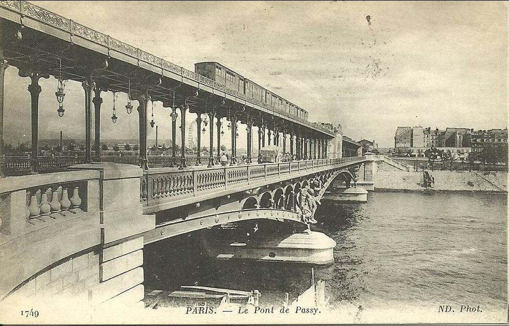 Paris Paris16 Le Pont De Passy Nd 1749 Carte Postale