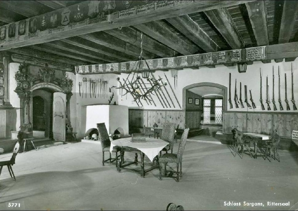 Sargans - Sargans - Rittersaal + ca. 1955