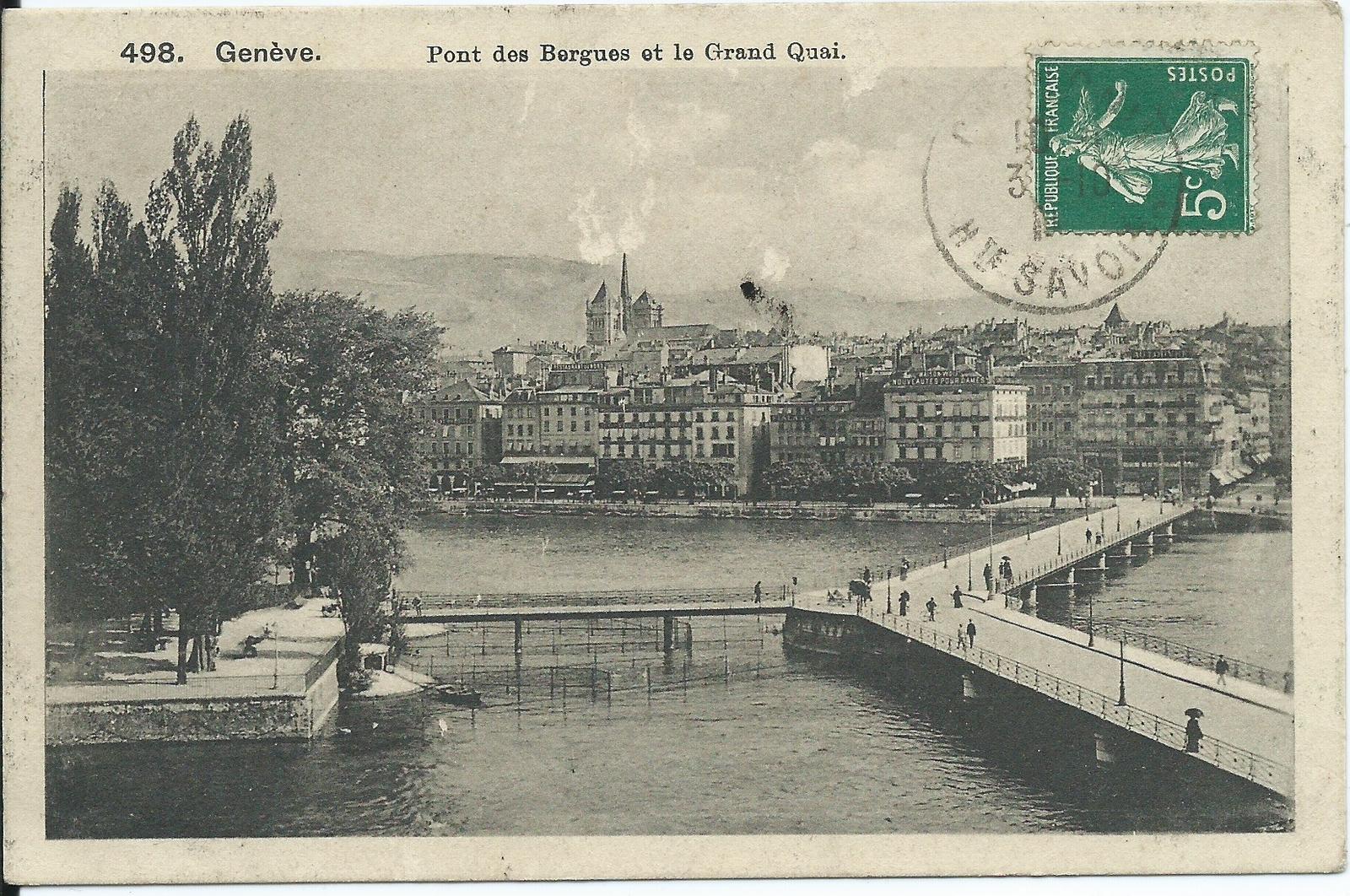 Genève - Genève. Pont des Bergues et le Grand Quai