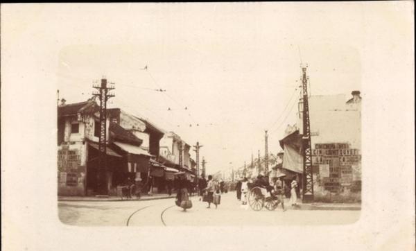 Hanoi - Hanoi Tonkin Vietnam, Entrée de la rue de la soie
