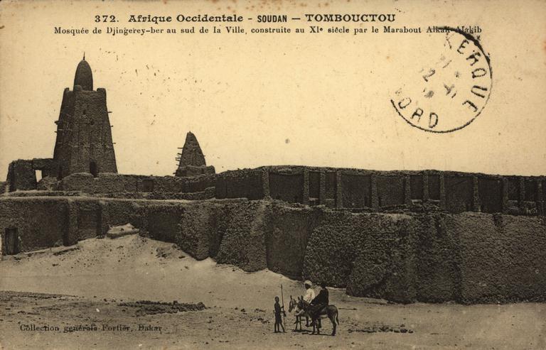 Tambouctou -  Mosqueé de Djingerey-ber au sud de la ville construite au XI eme siècle