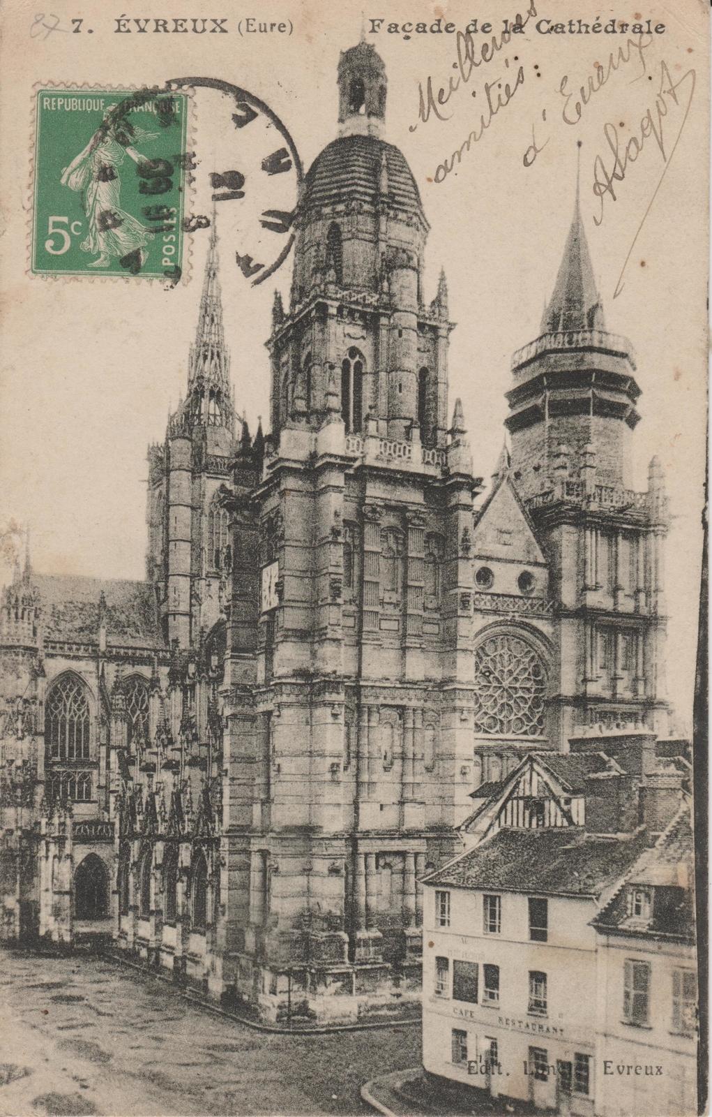 Evreux - Carte postale ancienne et vue d'Hier et Aujourd'hui - Geneanet