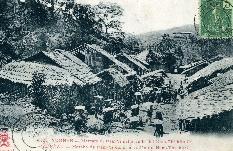 Nam-Si -  Marché de Nam-Si dans la vallée de Nam-Thi