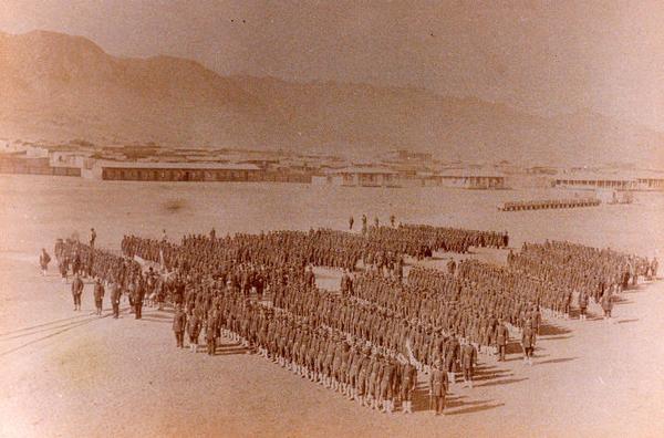 Antofagasta - El 2° regimiento de Línea del ejército chileno en la recién ocupada ciudad boliviana de Antofagasta.