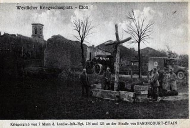 Eton - Soldats allemands des 124è et 125è régiment d'infanterie Guerre 1914-1918