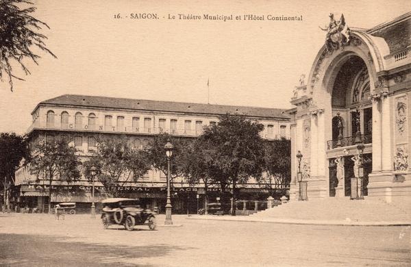 Saïgon - SaIgon-Le Théâtre Municipal et l'Hotel Continental