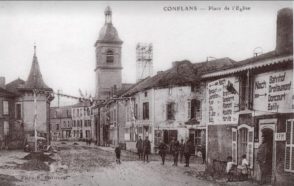 Conflans-en-Jarnisy - CONFLANS-en-JARNISY (54), la Rue de Verdun vers Etain (3), vers 1915