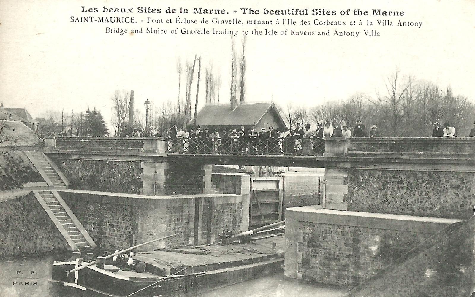 Saint-Maurice - Pont et écluse de Gravelle