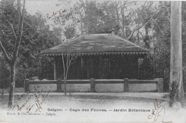 Saïgon - la cage aux fauves jardin botanique