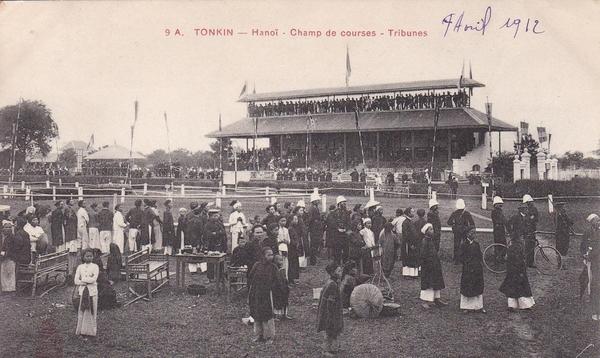 Hanoï - TONKIN / HANOI / CHAMP DE COURSES / TRIBUNES / PASSIGNAT 9A