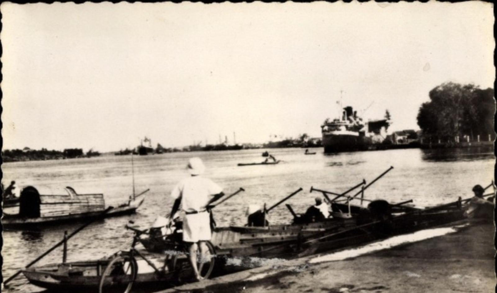 Hô Chi Minh-Ville -  Cp Saigon Cochinchine Vietnam, La rivière et le port