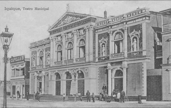 Iquique - CHILI . IQUIQUE . TEATRO MUNICIPAL . CPA ANIMEE . 1912.
