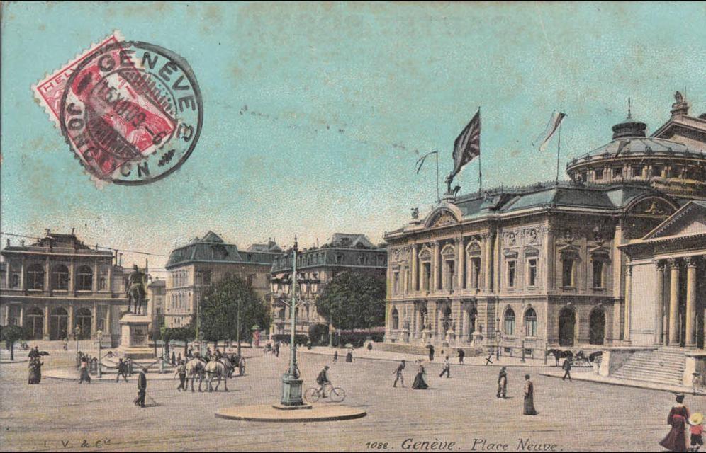 Geneve -  place neuve - theatre