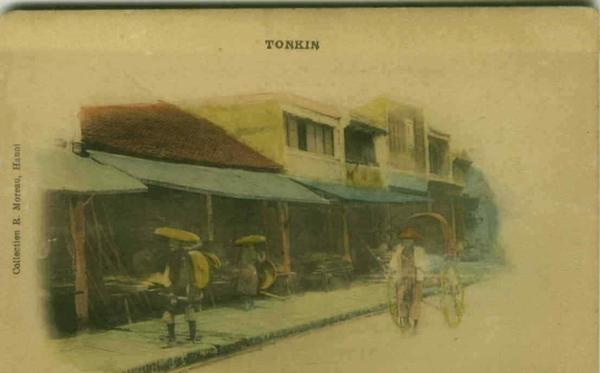 Hanoi - VIETNAM - TONKIN - HANOI - RUE DES CHAPEAUX - 1900s (BG995)