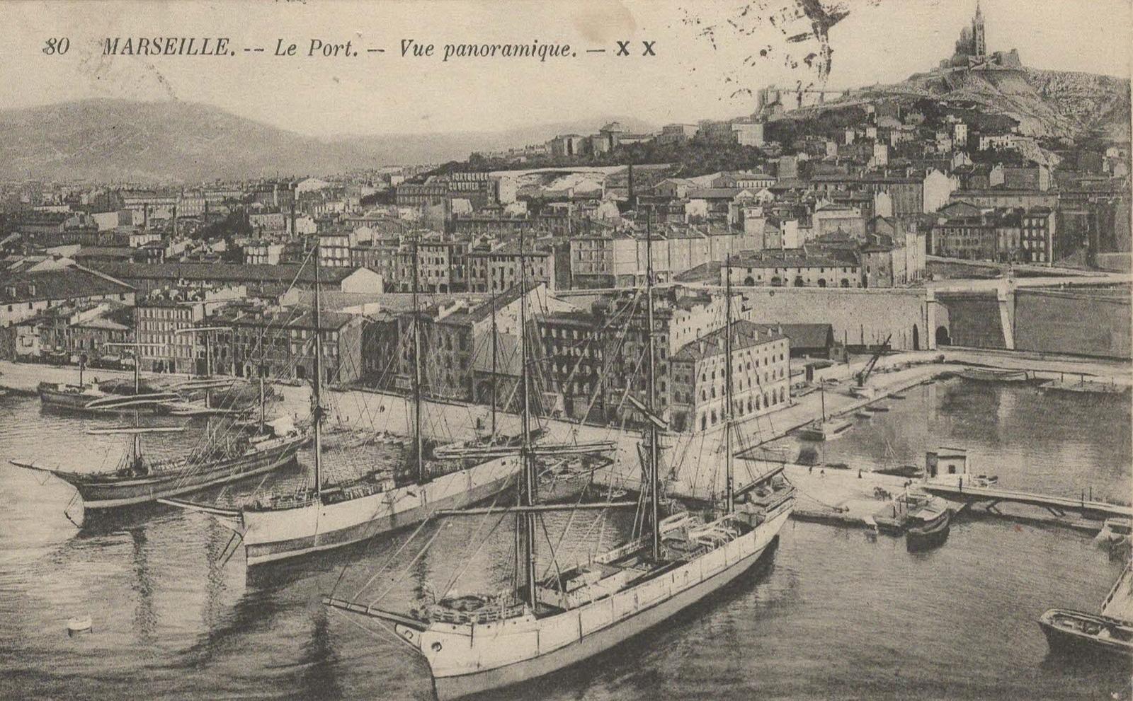 Marseille -  Le port de Marseille vers 1915