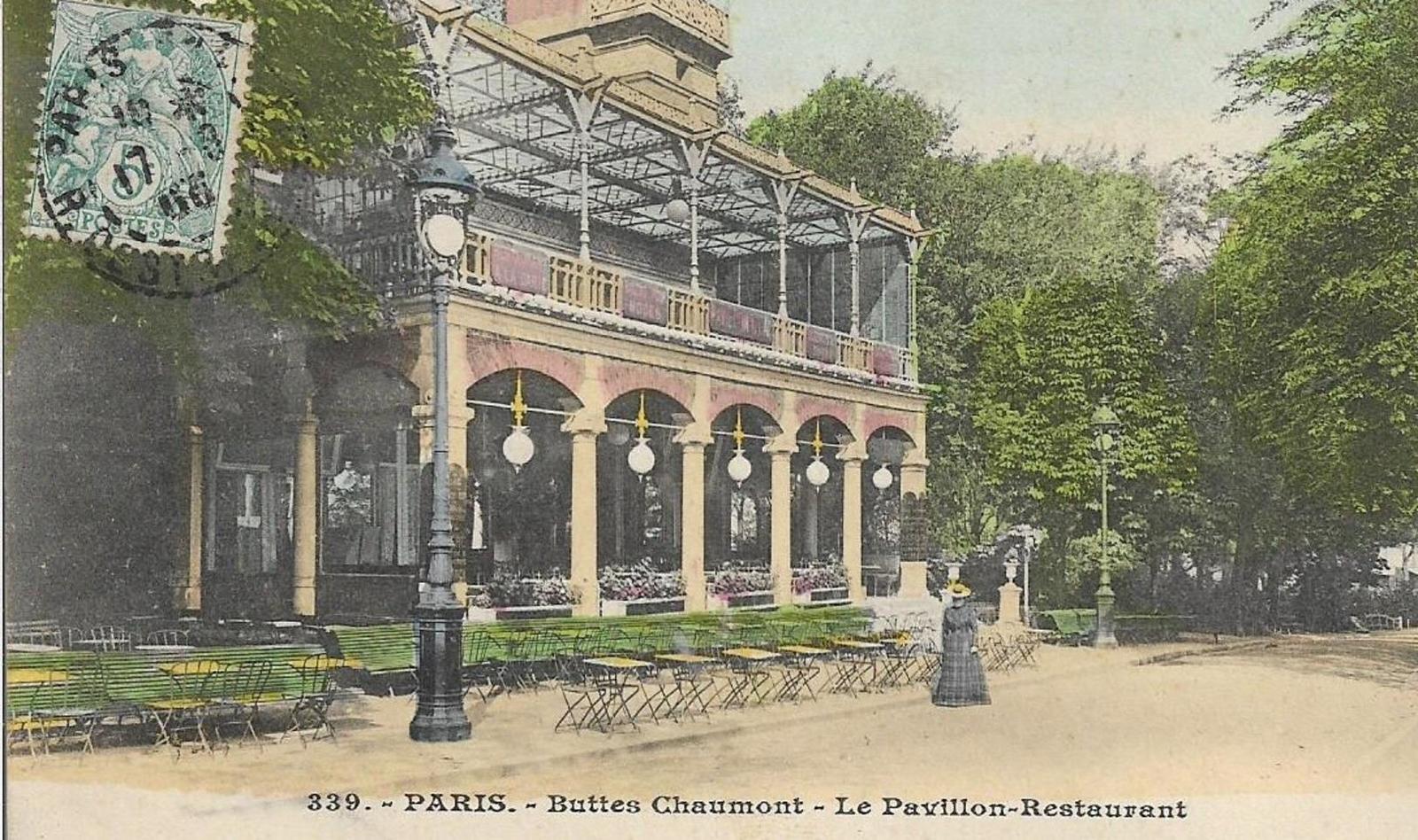 Paris - CPA. PARIS. BUTTES CHAUMONT. LE PAVILLON RESTAURANT. 1906.