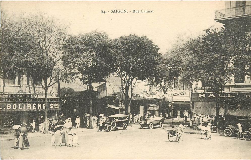 Saigon -  VIET NAM . SAIGON . RUE CATINAT . CPA ANIMEE .