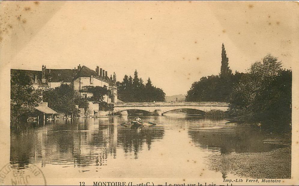 Montoire-sur-le-Loir - Montoire, le pont sur le Loir (scan recto-verso) KEVREN0070