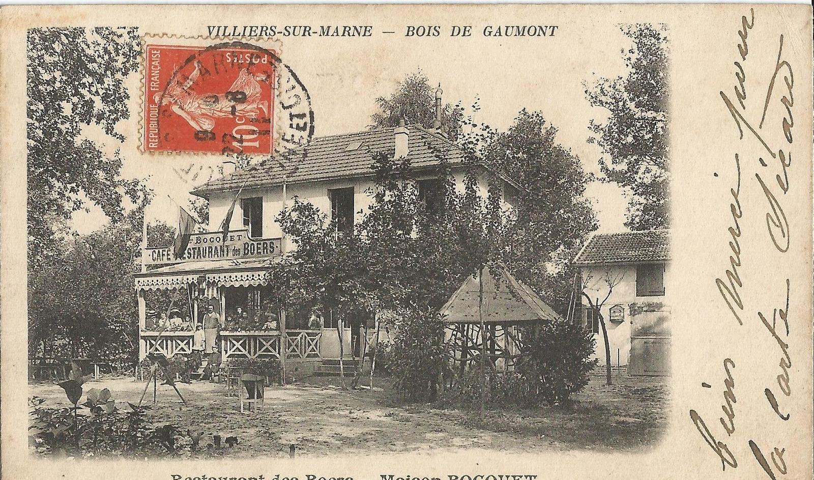 Villiers Sur Marne Bois De Gaumont Restaurant Des Boers Maison Bocquet Carte Postale Ancienne Et Vue D Hier Et Aujourd Hui Geneanet