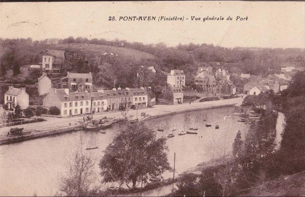Pont Aven Pont Aven Vue Generale Du Port Carte Postale