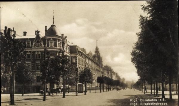 Riga - Cp Riga Lettland, Elisabethstraße