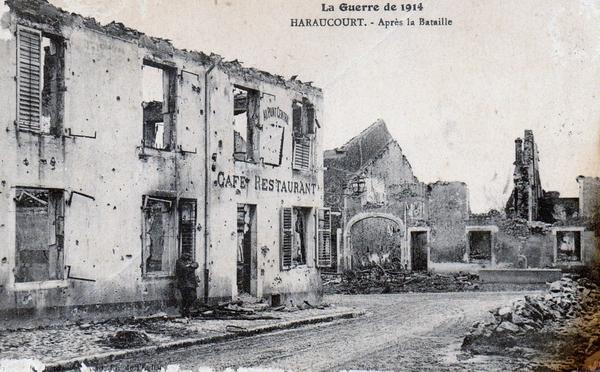 Haraucourt - Village d'Haraucourt après les combats de 1914