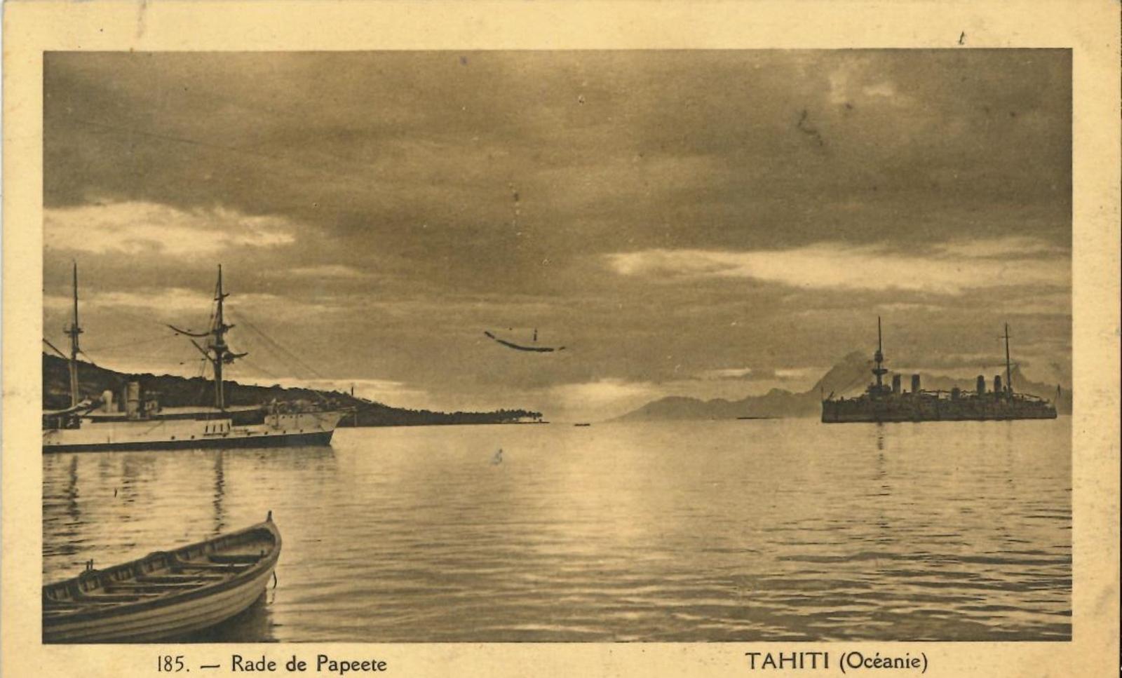 Papeete -  Polynésie Française - Océanie - Tahiti - Rade de Papeete (Edition Gauthier) Rare