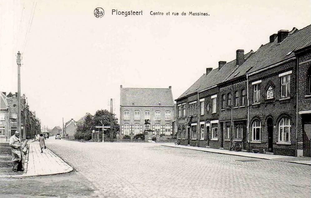 """Ploegsteert - Ploegsteert """" Le Centre et la rue de Messines """""""