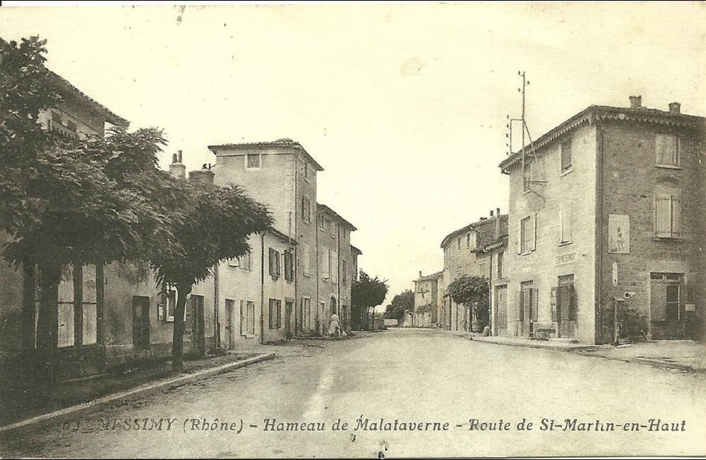 Messimy - MESSIMY (Rhône) - Hameau de Malataverne - Route de St-Martin-en-Haut
