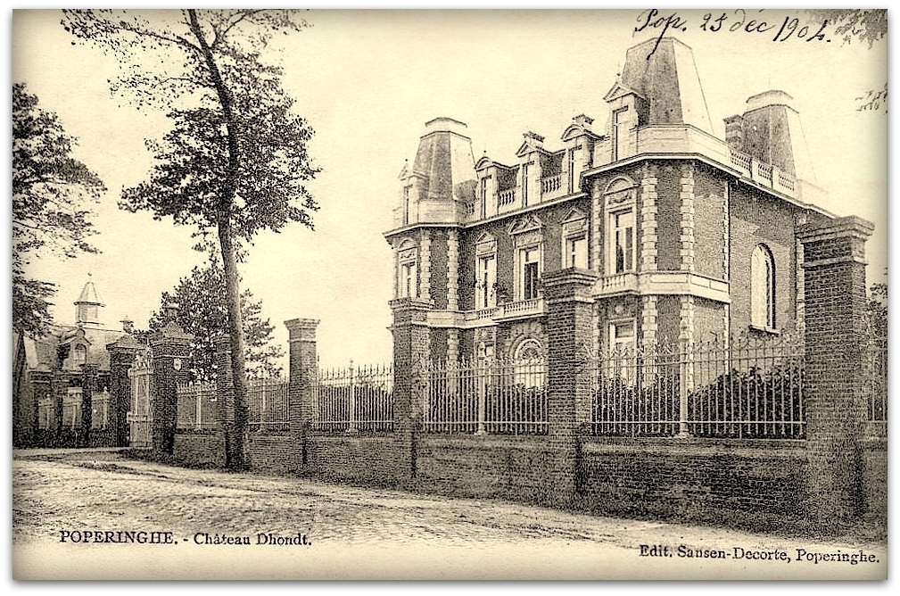 "Poperinge -  Poperinge "" Chateau D'Hondt Anno 1904 """