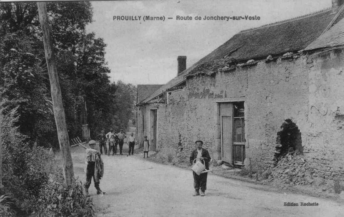 Prouilly - route de jonchery sur vesle edition Rochette
