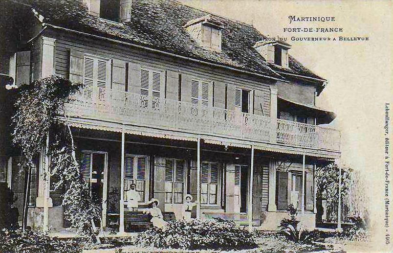 Fort de France - La maison du Gouverneur à Bellevue