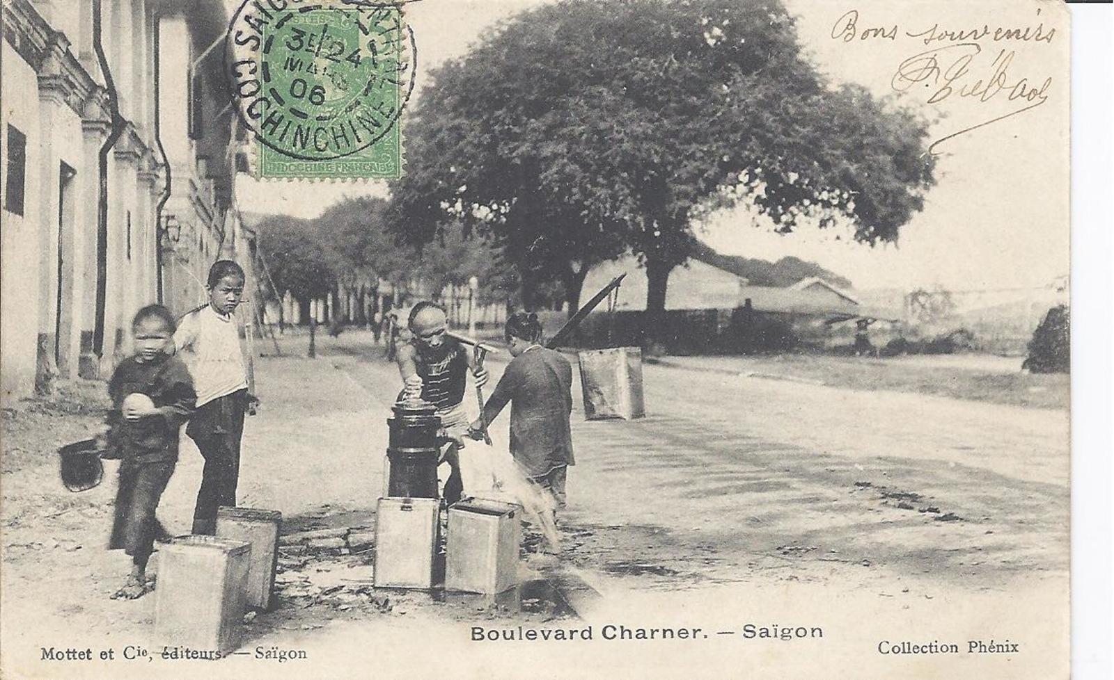 -  Indochine Francaise VIETNAM SAIGON Boulevard Charner 1906