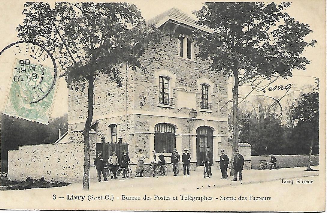 livry-gargan - bureau des postes et télégraphes - carte postale