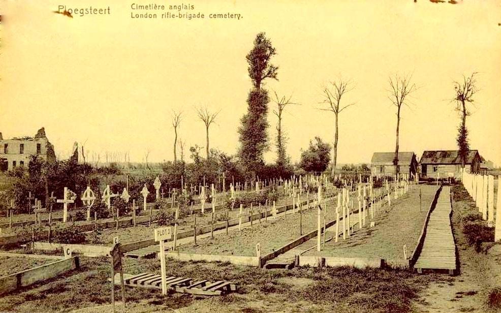 "Ploegsteert - Ploegsteert "" London Rifle-brigade Cemetery Anno 1914-1918 """