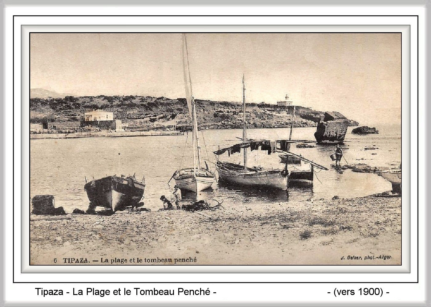 Carte Algerie Tipaza.Tipaza Carte Postale Ancienne Et Vue D Hier Et Aujourd Hui Geneanet