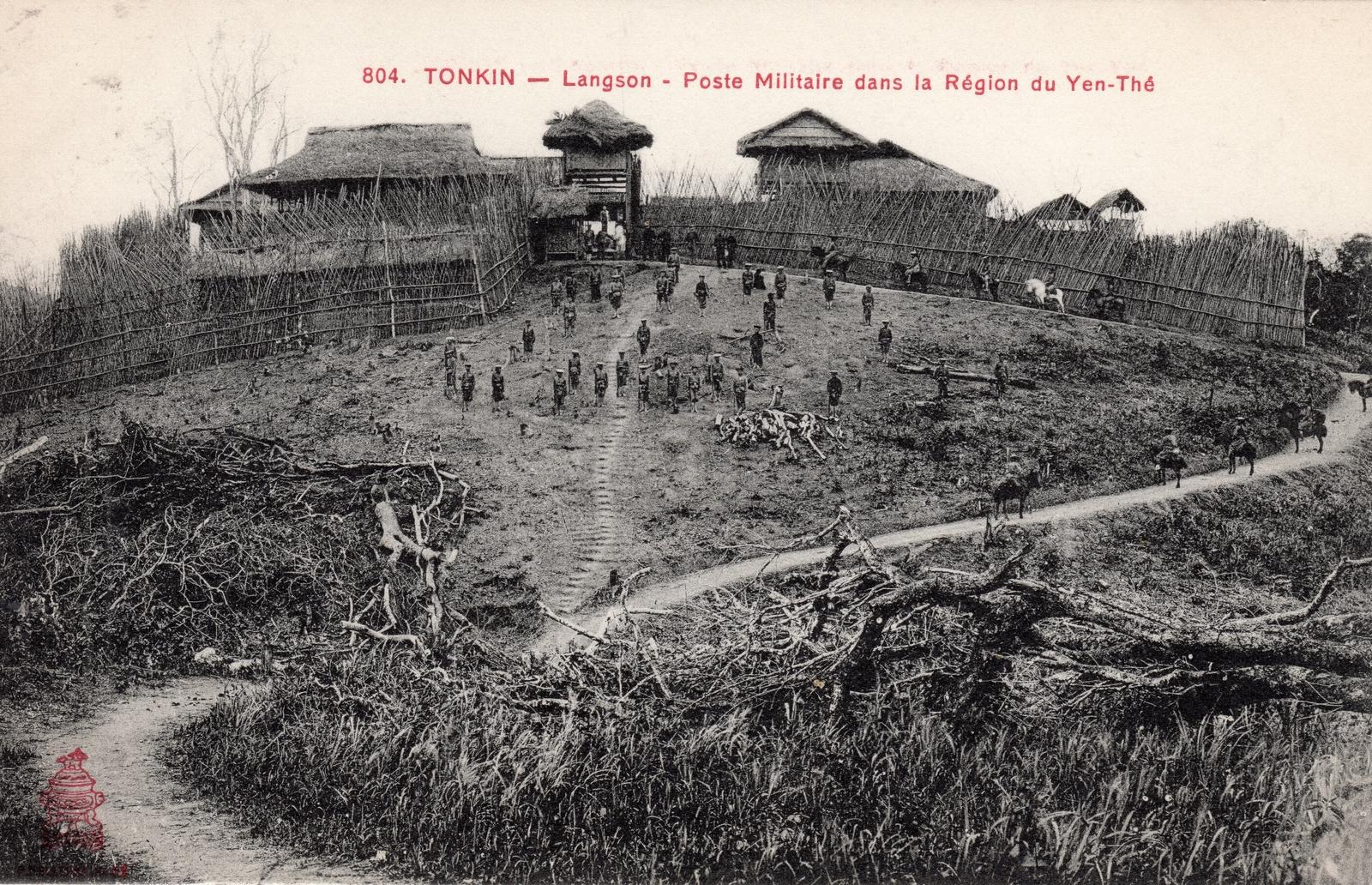 Région du Yen-Thé -  TONKIN-Poste Militaire dans la Région du Yen Thé