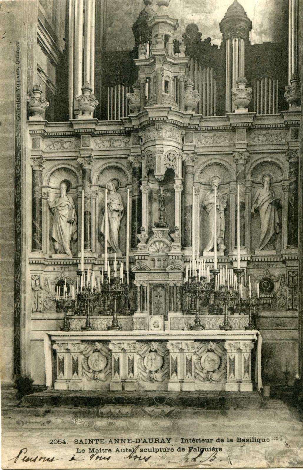 Architecte D Intérieur Auray sainte-anne-d'auray - intérieur de la basilique, le maître