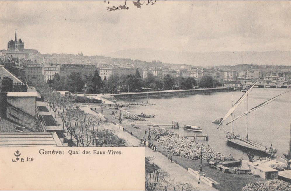 Geneve -  quai des eaux-vives