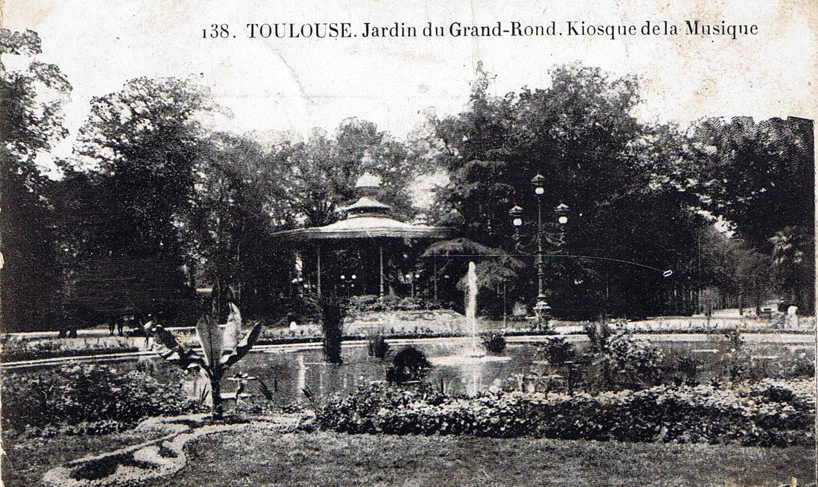 Toulouse - TOULOUSE. Jardin du grand rond. Kiosque de la ...